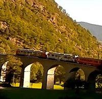Bernina Railway Brusio Viaduct webcam