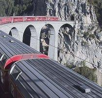Landwasser Viaduct Albula Railway webcam