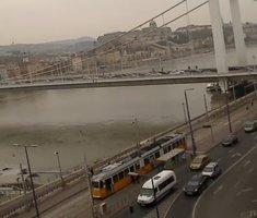 Budapest Marcius 15 Square Tram webcam