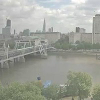London Hungerford Bridge Railway webcam