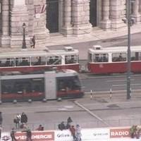 Vienna Rathaus Tram webcam