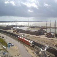 Harlingen Harbour railway webcam