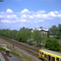 Zelznicni stanice Cachovice Railway station webcam