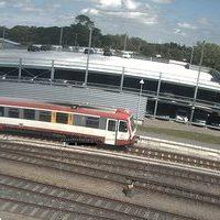 Bahnhof Niebull railway station webcam